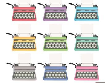 Vintage Typewriters Digital Clipart