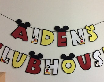 Mickey Mouse Inspired Birthday Banner