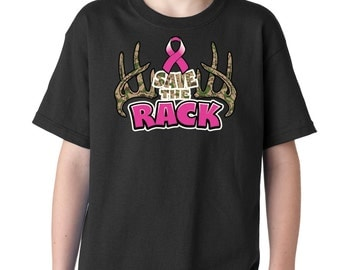 Kids Save The Rack Breast Cancer Awareness T-shirt 1148 - From Expression Tees
