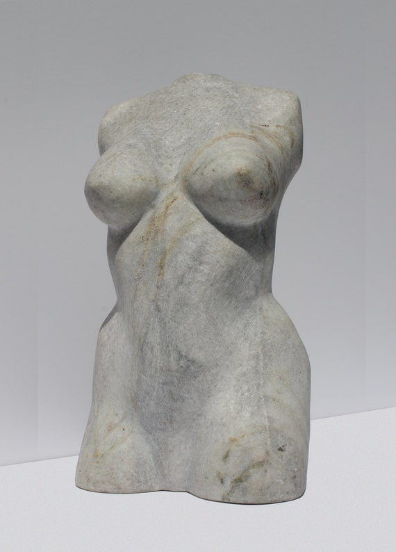 Marble handmade sculpture venus with a scar modern by