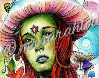 Print mother nature, art deco, wall art, artwork, seasons, autumn, spring