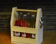 Handmade Aspen Beer Box - Six Pack Holder With Scrolled Sides