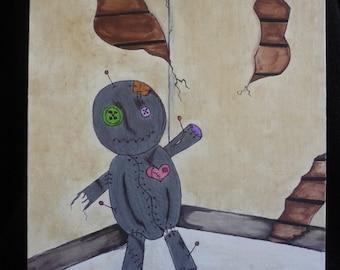 voodoo doll, voodoo doll painting, voodoo, doll, customized