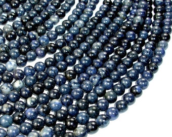 Dumortierite Beads, 8mm(8.3mm) Round Beads, 15.5 Inch, Full strand, Approx 47 beads, Hole 1 mm, A quality (203054002)