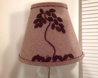 Handmade small fall lampshade
