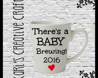 Pregnancy Announcement, Pregnancy Coffee Cup, Expecting Coffee Mug, New Baby Announcement, Grandparent Coffee Mug,