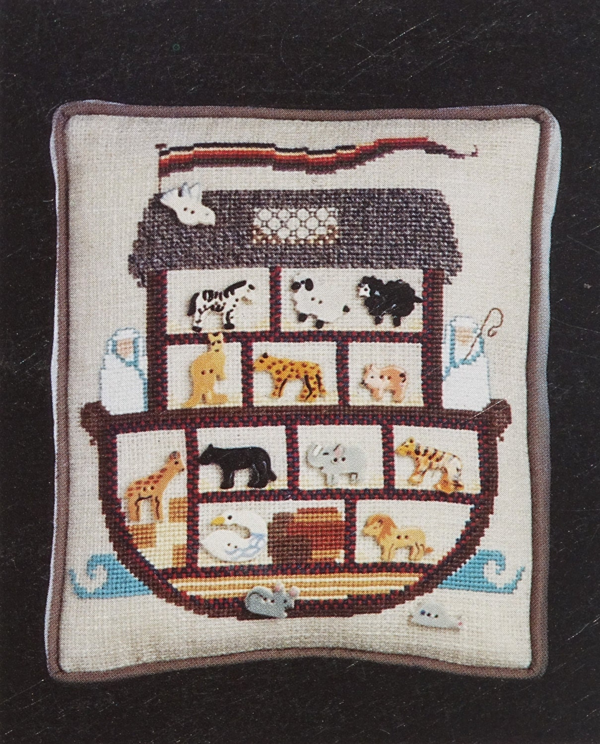 Noah s ark sampler vintage cross stitch patterns