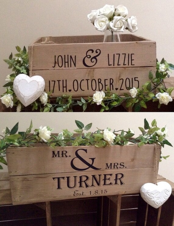 ... Apple Crate Wedding Crate Wedding Gift Wedding Table Center Piece