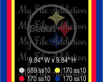 Instant Download Rhinestone SVG EPS Design File Pittsburg Steelers Football