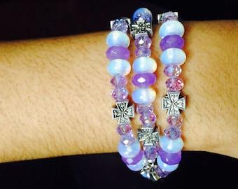 Moonstone and Alexandrite Bracelet/Necklace