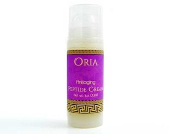 Peptide Cream by Oria, 1oz, peptide moisturizer, peptide serum, face moisturizer, face cream, face serum, face lotion, antiaging cream