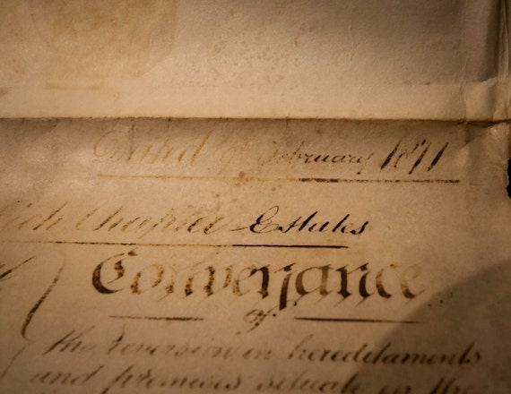 Authentic Document from 1871 Ship's Manifest on Parchment from London, England