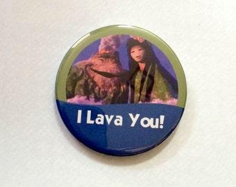 "Pixar Short Lava ""I Lava You!"" Disney Celebration Inspired Park Button/Badge/Pin"