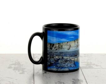 Personalised Black Photo Mug