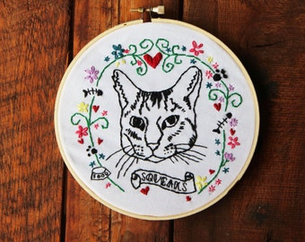Custom Pet Portrait Embroidery