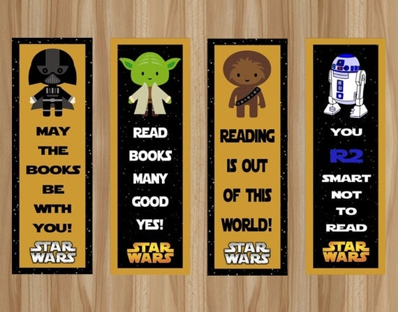 Old Fashioned image for star wars bookmark printable