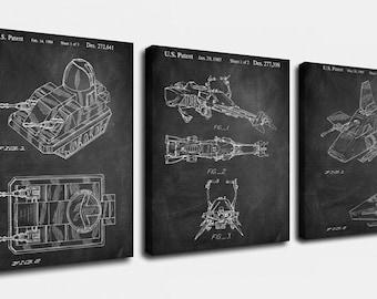 Star Wars Vehicle Canvas Art,patent Print Poster,patent Print Art,home Decor,patent Wall Art,vintage Art,vintage Patent Set [ppes0029-c]