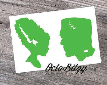 Frankenstein In Love, Frankenstein and the Bride of Frankenstein Decal Sticker