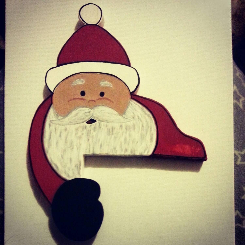 Christmas Door Frame Decorations: Santa Decor Over The Door Door Frame Decor Christmas