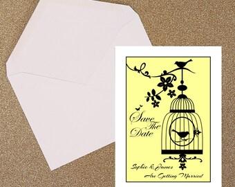 Bird Cage Wedding Invitation