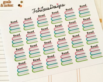 "Life planner ""Read"" stickers"