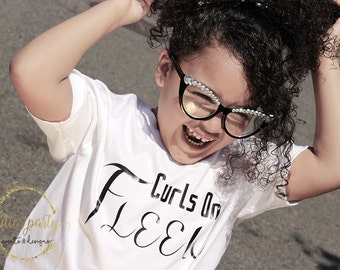 Curls On Fleek Natural Hair Kids Custom Shirt Design!