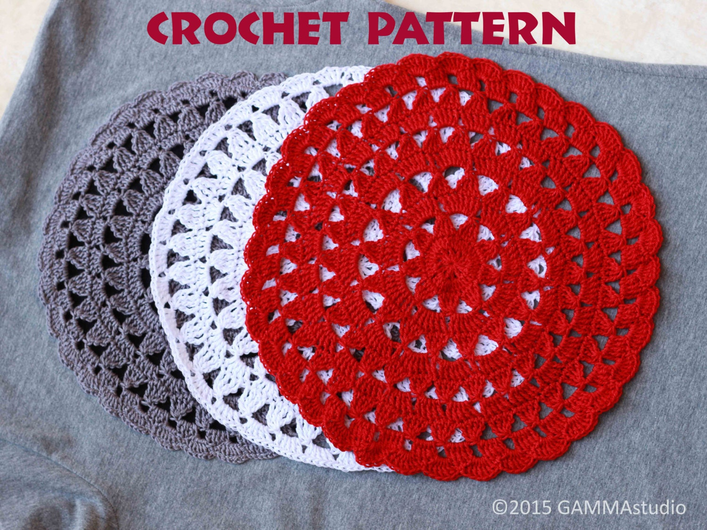 Crochet pattern mandala mandala decoration for your dress