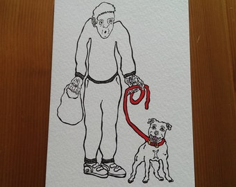 Stevie and Chewie greeting card