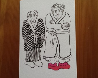 Pearl and Norris greeting card