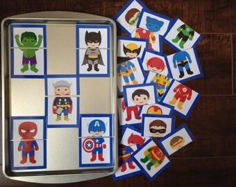 Magnetic Superhero Cards