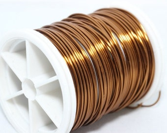 Brown Wire 22 Gauge (0.6 mm) 60 Feet 18 meters, Wire Wrapping, Craft Wire, 60 Feet Artisan Wires