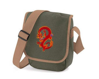 Pocket embroidered dragon, Chinese Dragon,