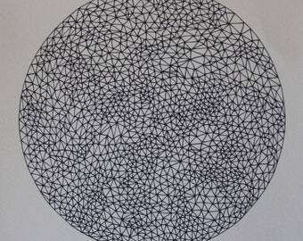 Triangle sphere original drawing #3