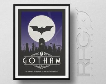 Batman Origin Print : Gotham City - DC Comics