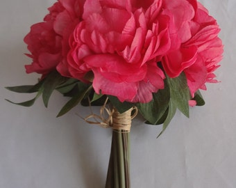 11 Inches Peony Bouquet x 10 (Pack of 2)