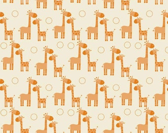 Fabric, Riley Blake Orange Giraffe fabric, Baby Fabric