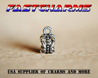 EUROPEAN SPACER CHARMS, rope, Antique Silver, 10/50pcs,jewelry making supplies,fastcharms,jewelry findings,bails,charms for bracelets (YB8A)