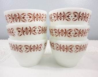 Anchor Hocking Vintage Custard Cups - Set of Six