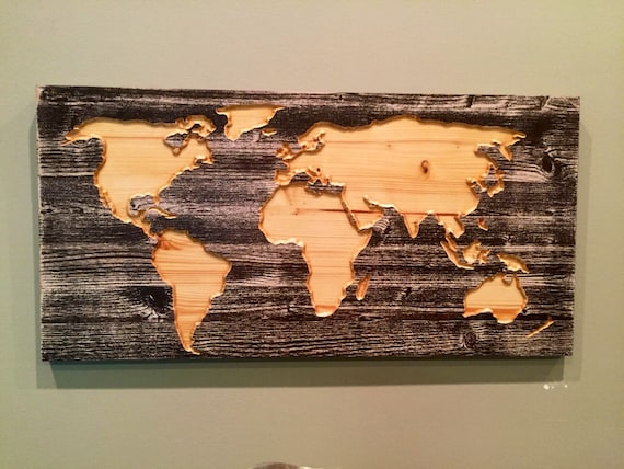 Wooden World Map Wall Art carved wooden world map wall art world map home decor world