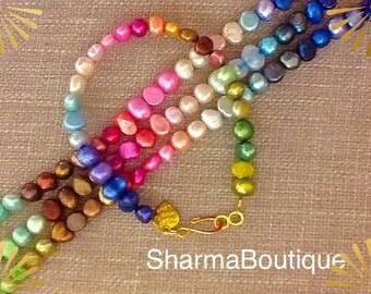 Ombre pearl delicate bracelet