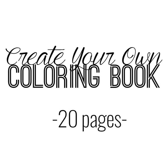 Items similar to Create Your Own Coloring Book - African ...