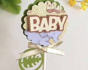 SALE* 15 Safari Cupcake Toppers | Jungle theme baby shower decor | Safari cupcake picks | Zoo cupcake toppers!