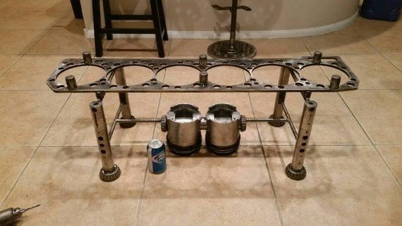 Upcycled Diesel Engine Coffee Table