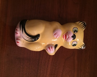 Cat MCM Norwood Co. Germany Toothbrush Holder Wall Pocket