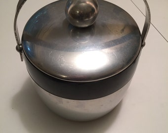 Mid Century Kromex Insulated Ice Bucket