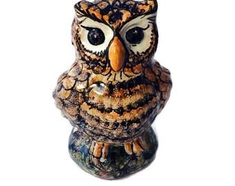 Small pottery owl  -  ceramic owl  -  pottery birds