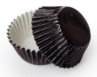 Black Foil - Baking Cupcake Liners - 50 Count