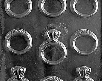 Wedding Engagement Ring Chocolate Mold - W051