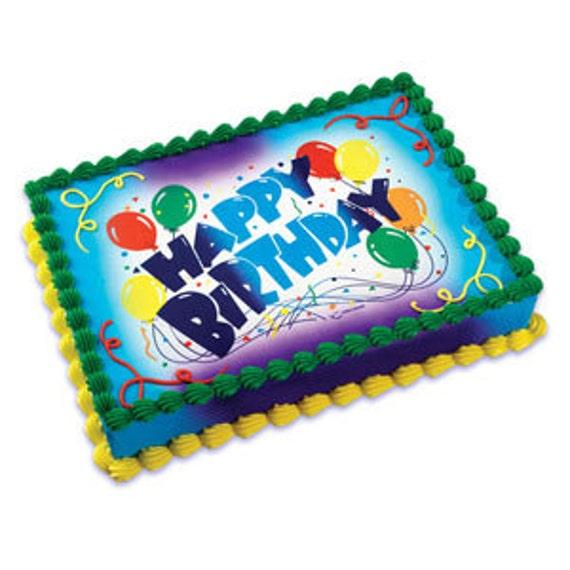 Happy Birthday Edible Cake Topper