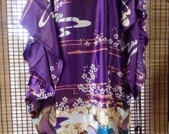 Japanese style kaftan dress summer dress holiday dress hospital gown